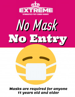 NEW POLICY: NO MASK - NO ENTRY!